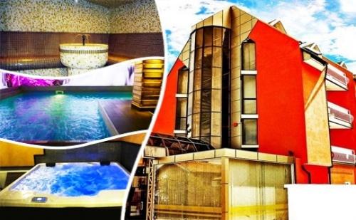 Делник в <em>Сапарева Баня</em>! Нощувка, Закуска и Вечеря на човек + Минерален Басейн и Спа Пакет в Хотел Виа Лакус