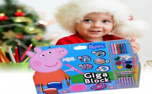 Гига Блок за Рисуване 5 в 1 Peppa Pig