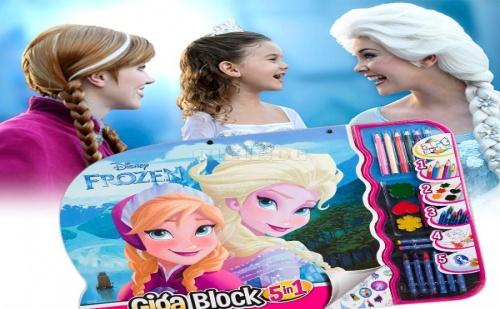 Гига Блок за Рисуване 5 в 1 Frozen