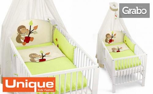 Луксозен Бебешки Спален Комплект от 4 Части с Балдахин