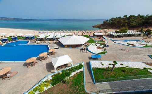 Ранни Записвания: 3 Нощувки със Закуски и Вечери в Хотел Blue Dream Palace 4*, о.<em>Тасос</em>, Гърция през Май и Юни!