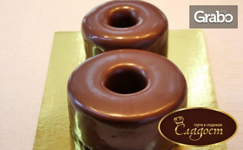 Шоколадова Торта с Белгийски Шоколад и Френска Сметана - във Формата на Осмица