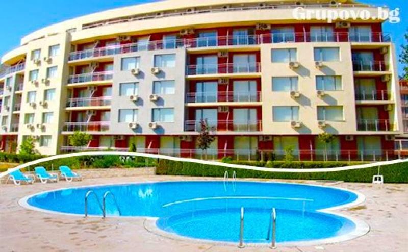 Нощувка на човек на База All Inclusive + Открит Басейн в Хотел Руби, <em>Слънчев бряг</em> на Първа Линия