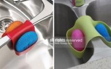 Силиконова поставка държач за гъби Sink holder